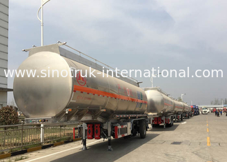 China Low Fuel Consumption 45000-70000Liters Semi Trailer Truck / Fuel tank Truck supplier
