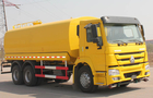 High Efficiency 25CBM Water Tank Truck With High And Low Level Spraying