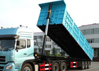 China Hydraulic Tipper Semi Trailer Truck 80 Tons 25-45CBM For Cargo Transport factory