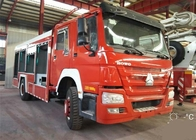 4X2 LHD Fire Fighting Truck SINOTRUK HOWO 10CBM 290HP for Sprinkling