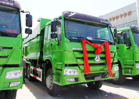 China Euro 2 Sinotruk Howo Dump Truck 5800 * 2300 * 1500mm Cargo Body Heavy Dump Truck factory