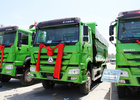 China Construction Material Tipper Dump Truck 266 HP - 420 HP Commercial Dump Truck factory