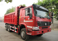 China LHD 6X4 Heavy Duty SINOTRUK HOWO Dump Truck With Tarpaulin Cover / Metal Cover factory
