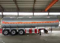 China 60 CBM Oil Tank Truck 3 Axles Semi Flatbed Trailers For Oil Fuel Transport factory