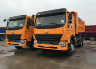 China Euro 2 Standard 10 Wheels Tipper Dump Truck 30 - 40 Tons For Loading Sand / Stones factory