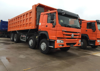 Low Fuel Consumption Efficient Tipper Dump Truck 371HP 8x4 RHD SINOTRUK HOWO