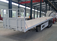 China 20ft / 40ft Container Semi Flatbed Trailers 3 Axles 30 - 60 Tons 13m Length factory