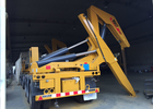 Side Lifter 3 Axles Semi Trailer Truck Lift / Carry 20ft 40ft Container