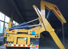 37 T Container Side Loader Crane Truck Mounted Crane With Hydraulic System