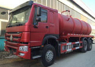 Transporting Sewage Septic Tank Cleaning Truck / Septic Pumping Truck 17CBM LHD 336HP