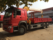 China Heavy Duty 12 Tons HIAB Truck Mounted Telescopic Crane 6X4 LHD Truck Cargo Lift factory