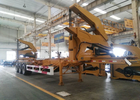 20ft 40ft Truck Mounted Crane Side Loader Sidelifter , Container Self Loading Semi Trailer