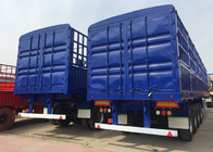 China Multi Color Semi Low Bed Trailer , Normal Suspension Semi Equipment Trailer factory