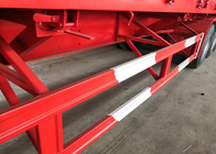 Carbon Steel Semi Truck Trailer / Semi Low Bed Trailer 30-60 Tons