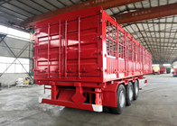 China Carbon Steel Semi Truck Trailer / Semi Low Bed Trailer 30-60 Tons factory