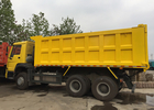 Heavy HOWO Mine Dump Truck , Yellow Dump Truck 30 - 40 Tons 10-25CBM