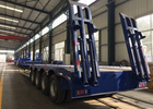 Four Axles Lowbed Semi Truck And Trailer With ISO / 3C / BV / IFA / SGS Certification