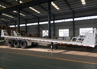 Mn Steel 3 Axles Container Semi Truck Flatbed Trailer Carrying Heavy Goods