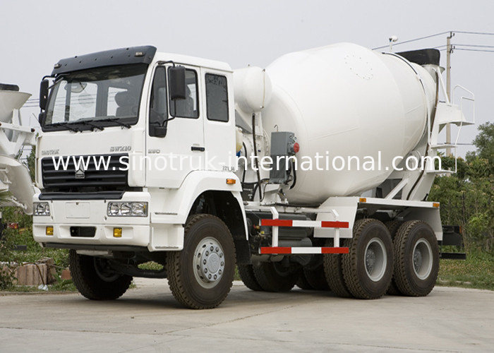 Large Ready Mix Concrete Trailer 290HP 6X4 Cement Mixing Truck , SGS