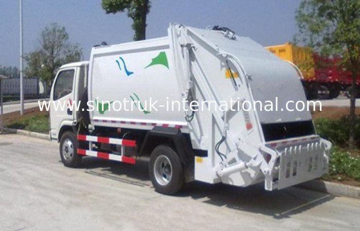 Big Loading Capacity Solid Waste Management Trucks With Collection Box