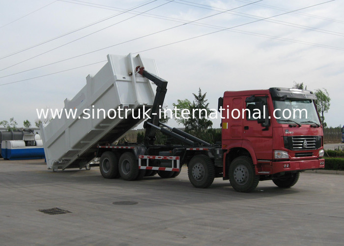 SINOTRUK HOWO 20-25 CBM Carriage Removable Garbage Disposal Truck
