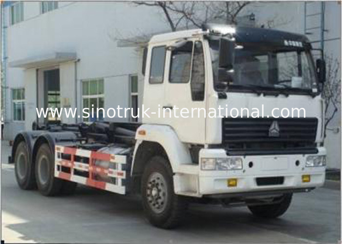 Carriage Removable Garbage Collection Truck SINOTRUK Golden Prince 20-25CBM 6X4