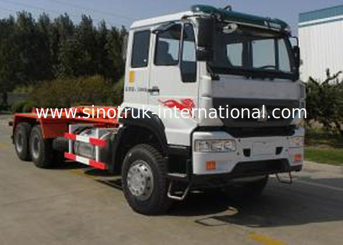 Carriage Removable Garbage Collection Truck SINOTRUK 25CBM 6X4 LHD
