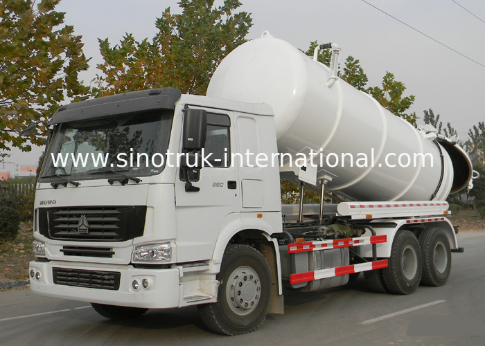 20CBM LHD 336HP Sewage Suction Truck With Time Saving Vacuum Pump