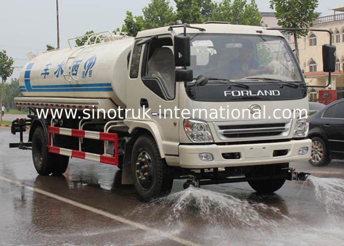 Professional 7CBM Water Tank Truck For Urban Landscaping / Guardrail Washing