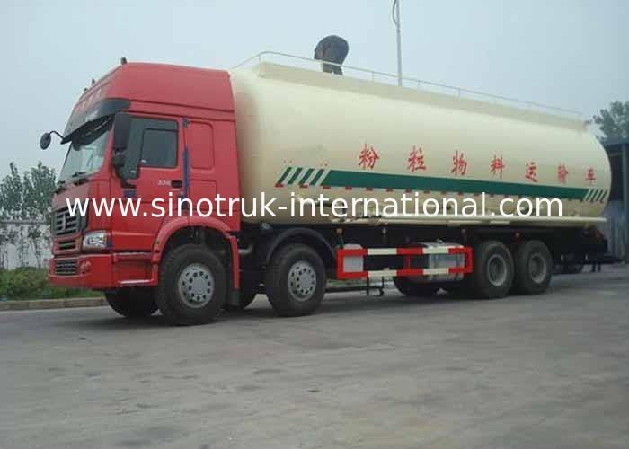 12 Wheels Bulk Cement Truck , LHD 36-45CBM Cement Transport Trucks