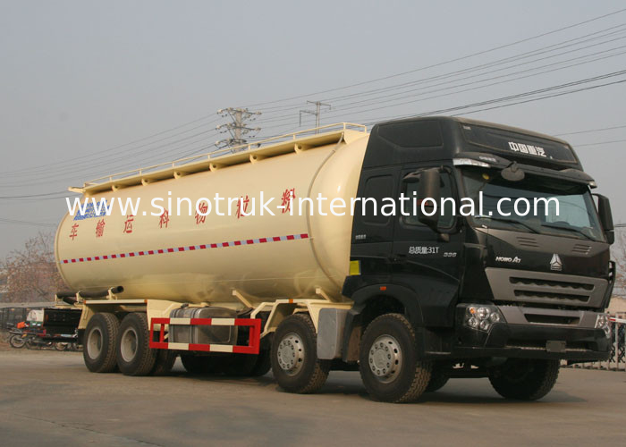 High Safety Bulk Cement Truck Tanker Trailer 371HP 8X4 LHD 36-45CBM