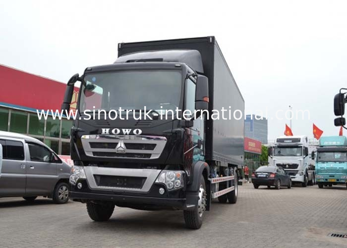 16 Tons Cargo Van Truck SINOTRUK HOWO , Light Duty Box Trucks For Delivery