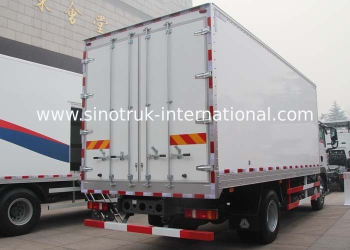 4X2 LHD 290HP Commercial Truck And Van With 5600*2300*600mm Body Cargo