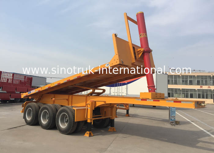 Hydraulic Cylinder Tipper Semi Trailer Dump Truck  For 20 Feet Or 40 Feets Container