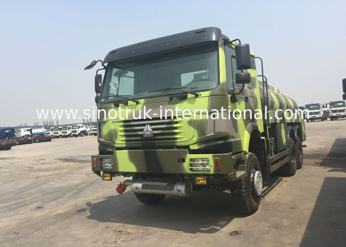 LHD 6X6 Military Fuel Oil Tanker Truck 16 - 25 CBM Euro 2 336 HP High Capacity