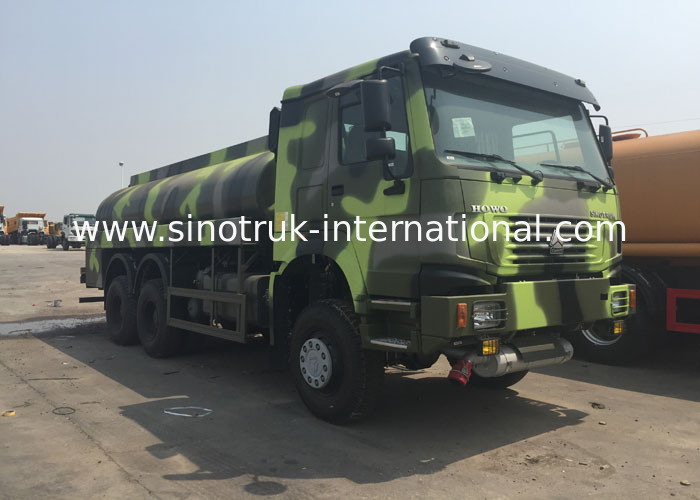 Gasoline / Diesel Oil Tank Truck For Army 9 Tons 25000 Kg 9200 × 2500 × 3150mm