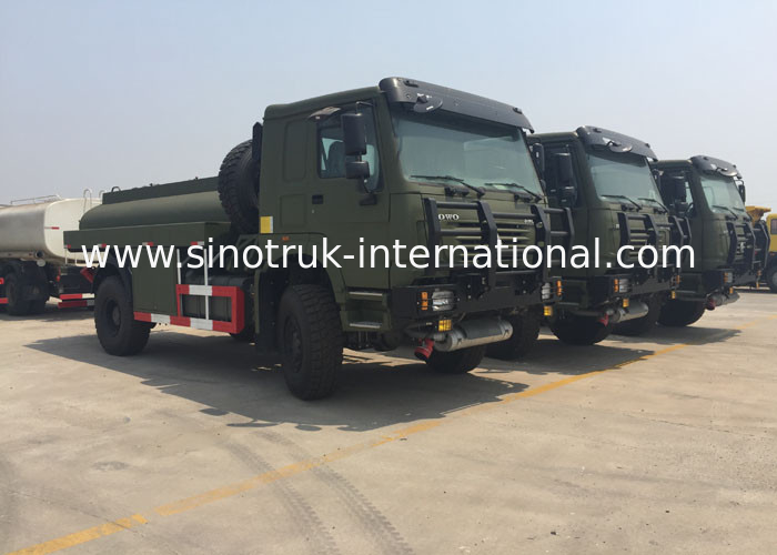 Chassis Drive Mobile Oil Tank Truck For Fuel Delivery 266 HP - 420 HP 2 Cabin