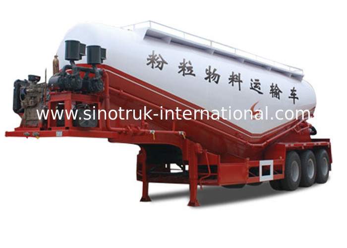 Normal Suspension Semi Trailer Truck With Carbon Steel / Mn Steel Material