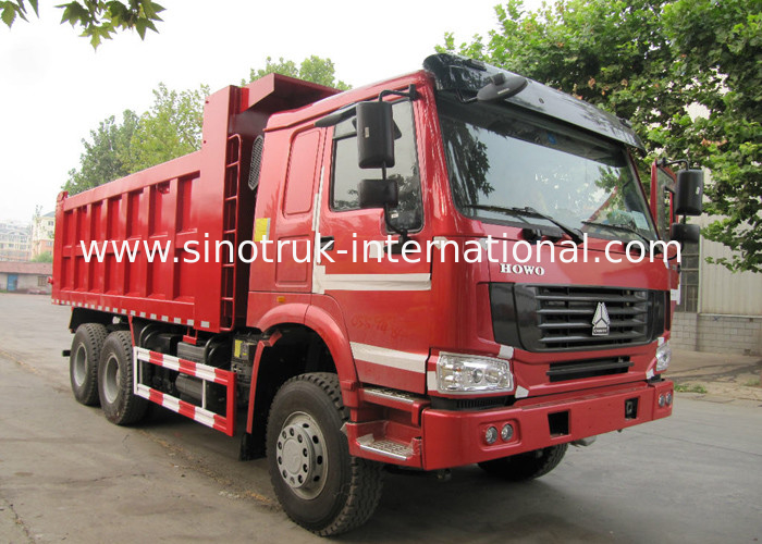 lhd 6x4 heavy duty sinotruk howo dump truck with tarpaulin cover