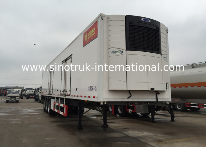 40 Feet Container Refrigerated Semi Trailer Truck 2 / 3 Axles 30 - 60 Tons 13m