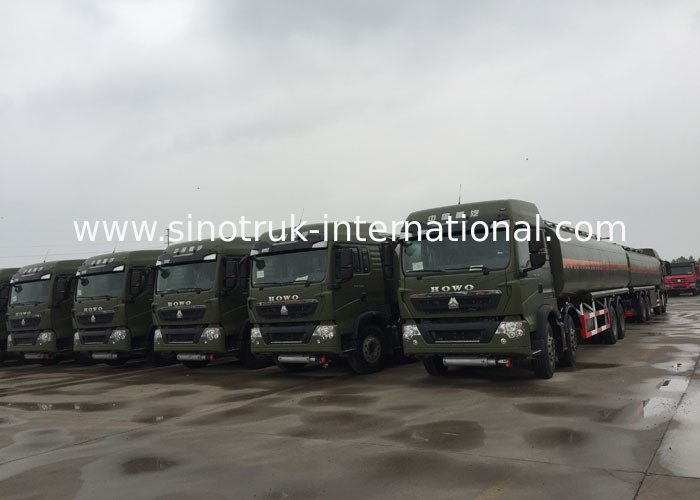 Oil Transport Vehicle Fuel Oil Delivery Truck  Mobile Station 25 - 30 CBM Euro 2