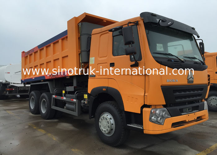 30 - 40 Tons SINOTRUK Dump Truck LHD 371HP 6X4 For Loading Construction Material
