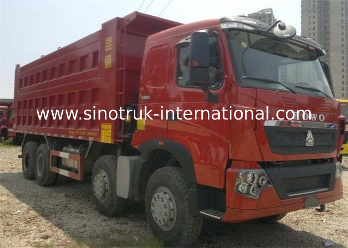 SINOTRUK HOWO T7H Dump Truck German Man Engine 12 Wheels 360HP LHD For Mining Area