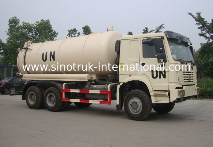 6×4 Drive Type Sewage Suction Truck With Pump With Hydraulic Control System