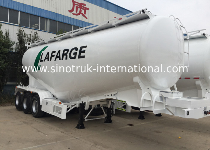 3 Axles Concrete Mixer Semi Trailer / Bulk Cement Trailer 50-60 CBM