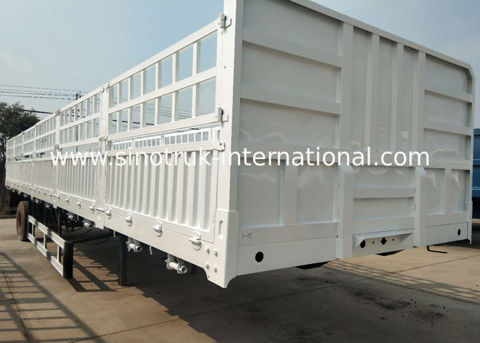 High Speed Dropside Semi Trailer Truck For Logistic Industry 3 Axles
