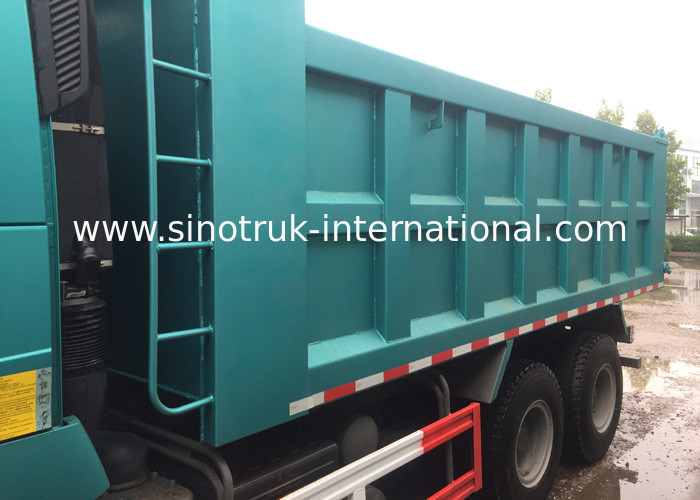 Right Hand Driver Ten Wheels Sinotruk Tipper Truck , Heavy Duty Dump Truck