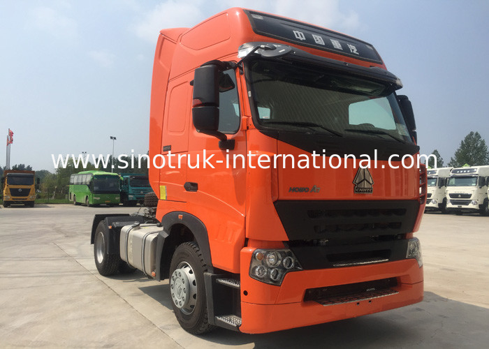 Reliable Howo Tractor Truck Orange Color Tractor And Truck Low Fuel Consumption