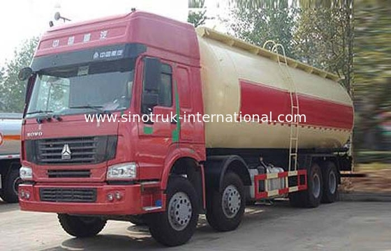 Bulk Cement Tank Truck / Dry Bulk Trucking Transportation Vehicle 371HP 12 Wheels