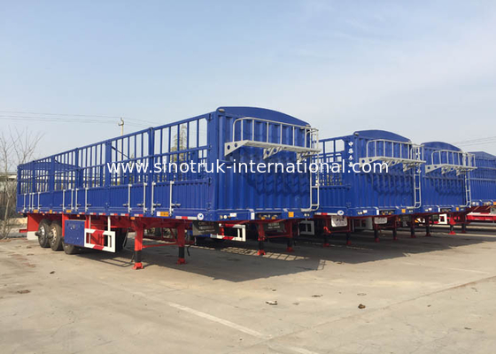 China Dropside Truck Semi Trailer Commercial Truck And Trailer 3X16 Tons factory